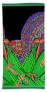 Facination For Cactus Plants And  Flower Beach Towel