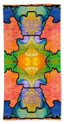 Facing Realities Abstract Hard Candy Art By Omashte Beach Towel