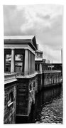 Fairmount Water Works In Black And White Beach Towel