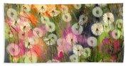 Fairy Dandelions Fields Beach Towel
