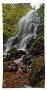 Fairy Falls In Columbia Gorge Beach Sheet