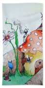 Fairy Mushrooms Beach Towel