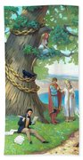 Fairy-tale Pushkin Lukomorye Beach Towel