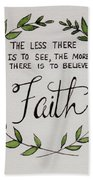 Faith Laurel Wreath Beach Towel