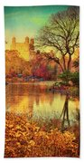 Fall Afternoon In Central Park Beach Towel