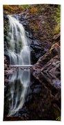 Fall At Fall River Falls Beach Towel
