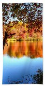 Fall At Lake Beach Towel