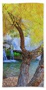 Fall At Murray Falls I Beach Towel