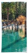 Fall At Skunk Harbor Lake Tahoe Beach Towel