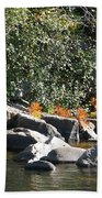 Fall At The Creek Beach Towel