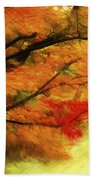 Fall At The Temple Beach Towel