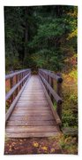 Fall Bridge Beach Towel