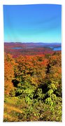 Fall Color On The Fulton Chain Of Lakes Beach Towel
