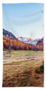 Fall Colors At Alpe Devero Beach Towel