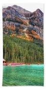 Fall Colors At Lake Louise Alberta  Beach Towel