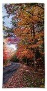 Fall Colors Backroad Beach Towel