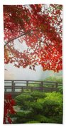 Fall Colors By The Moon Bridge Beach Towel