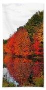 Fall Colors In Madbury Nh Beach Sheet