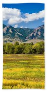 Fall Colors Of Boulder Colorado Beach Towel