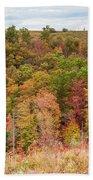 Fall Colors On Hillside Beach Towel