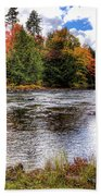 Fall Colors On The Moose River Beach Towel
