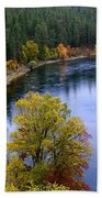 Fall Colors On The River Beach Towel