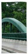 Fall Creek Gorge Bridge Cornell University Ithaca New York Beach Towel