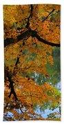 Fall Day At The Lake Beach Towel