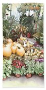 Fall Decorating At The Market Beach Towel