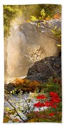 Fall Falls Mist  Dead River Falls  Marquette Mi Beach Towel