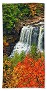 Fall Falls Beach Towel