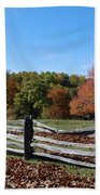 Fall Fence Beach Towel