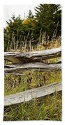 Fall Fencing Beach Towel
