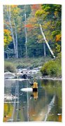 Fall Fishing Beach Towel