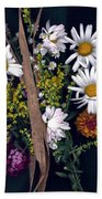 Fall Floral Collage Beach Towel