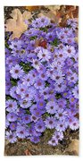 Fall Flowers Beach Towel