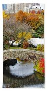 Fall Foliage In Central Park Beach Towel