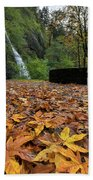 Fall Foliage At Horsetail Falls Beach Towel
