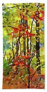 Fall Forest 2 Beach Towel
