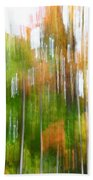 Fall Forest Colors Beach Towel