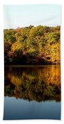 Fall In Indiana Beach Towel