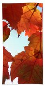 Fall In Love With Autum Beach Towel