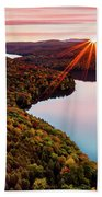 Fall In Northern Vermont Beach Towel