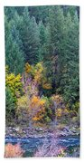 Fall In Spokane Beach Towel