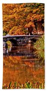 Fall In The Japanese Gardens Beach Towel