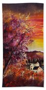 Fall In Villers Beach Towel