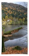 Fall In Vosges National Park Beach Sheet