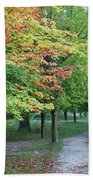 Fall Is Arriving Beach Towel