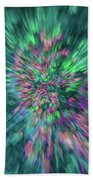 Fall Leaf Zoom Abstract Beach Towel