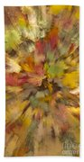 Fall Leaves Abstract Beach Towel